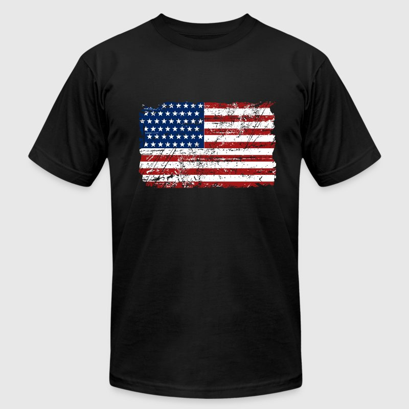USA Flag - Vintage Look - Men's Fine Jersey T-Shirt