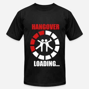 Hungover Hangover loading 2 funny - Men's  Jersey T-Shirt