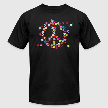 Flowers flower power peace (DDP) - Men's Fine Jersey T-Shirt