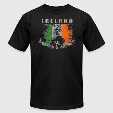 Ireland Irish Classic Vintage Retro Flag Design - Men's Fine Jersey T-Shirt