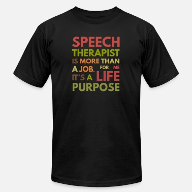 Speech Speech Therapist SLP Speech Therapy - Men's Jersey T-Shirt