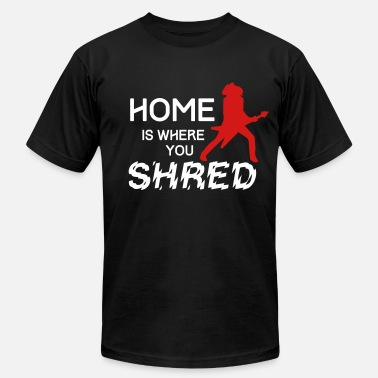 Shred Guitar Home is where you shred - Men's Fine Jersey T-Shirt