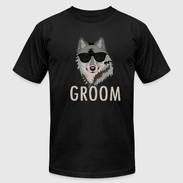 Wolfpack Groom / Wolfpack - Bachelor Party Funny Wolf - Men's Fine Jersey T-Shirt