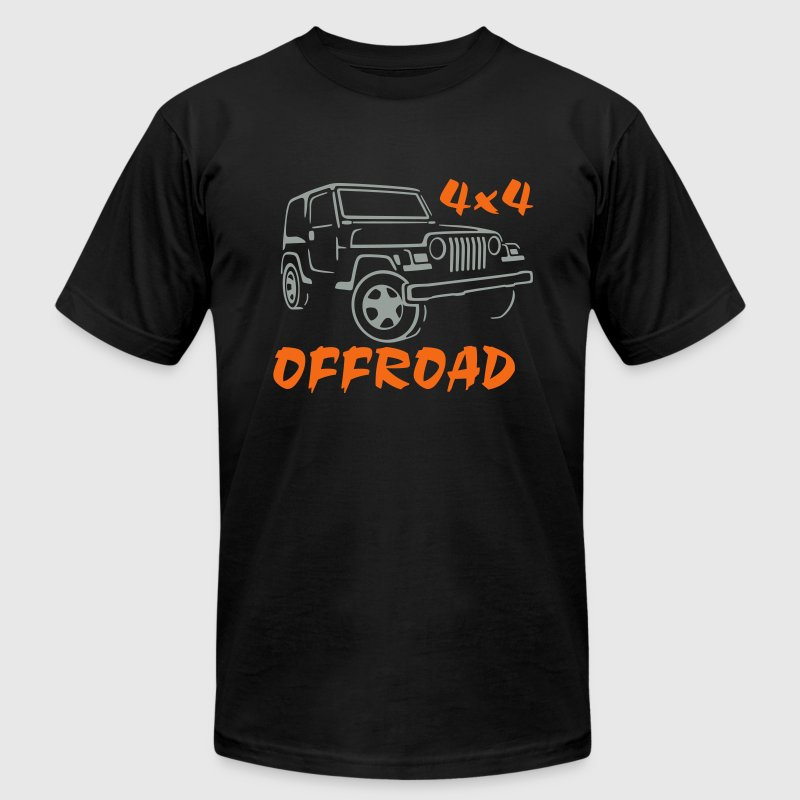 4x4 offroad jeep 4 Wheel Car - Men's Fine Jersey T-Shirt