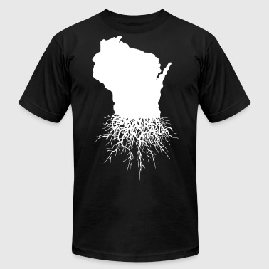 Wisconsin Roots Classic Style Home Roots Organic - Men's Fine Jersey T-Shirt