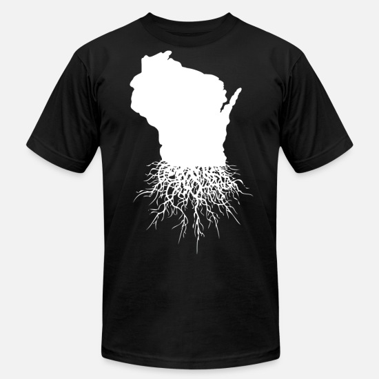 Wisconsin T-Shirts - Wisconsin Roots Classic Style Home Roots Organic - Men's Jersey T-Shirt black