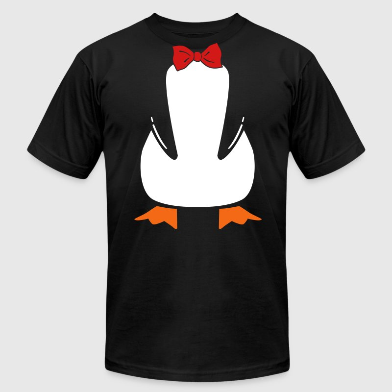 penguin with bow tie - Men's Fine Jersey T-Shirt