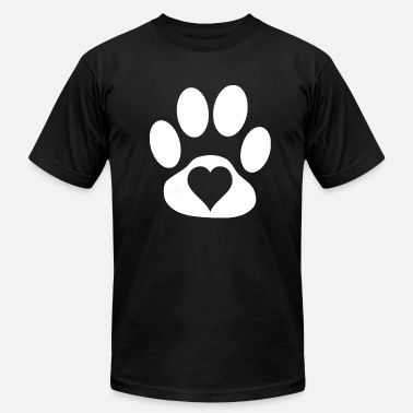 Paws-heart Heart in paw - Men's Fine Jersey T-Shirt