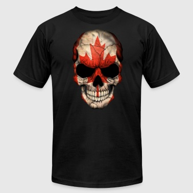 Flag Sportswear Canadian Flag Skull - Men's Fine Jersey T-Shirt