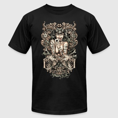 Tattooed evil Girl - Men's Fine Jersey T-Shirt