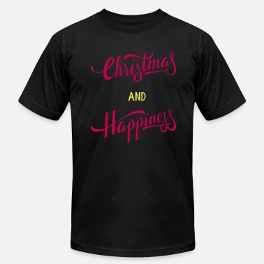 Happy Christmas Christmas and Happiness - Men's  Jersey T-Shirt