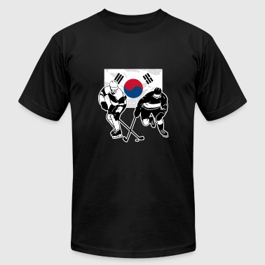 Hockey - South Korea Flag - Men's Fine Jersey T-Shirt