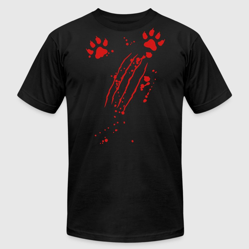 Scratch mark with blood and paws - Men's Fine Jersey T-Shirt