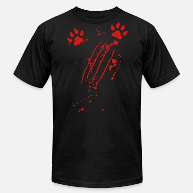 Scratch Wolf Scratch mark with blood and paws - Men's  Jersey T-Shirt