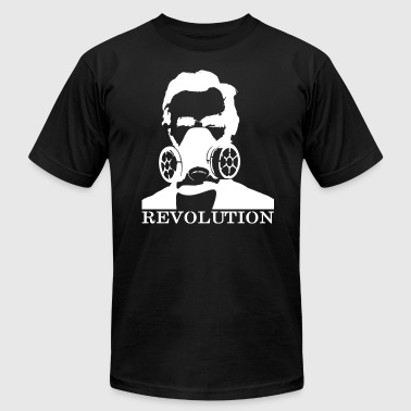 Revolution - Abe & Gas Mask - for dark colors - Men's Fine Jersey T-Shirt