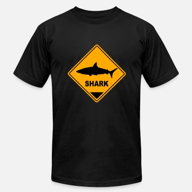 Shark Sign Shark Road Sign - Men's Jersey T-Shirt