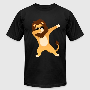 Lion With Sunglasses Dabbing Lion With Sunglasses - Gift Design - Men's Fine Jersey T-Shirt