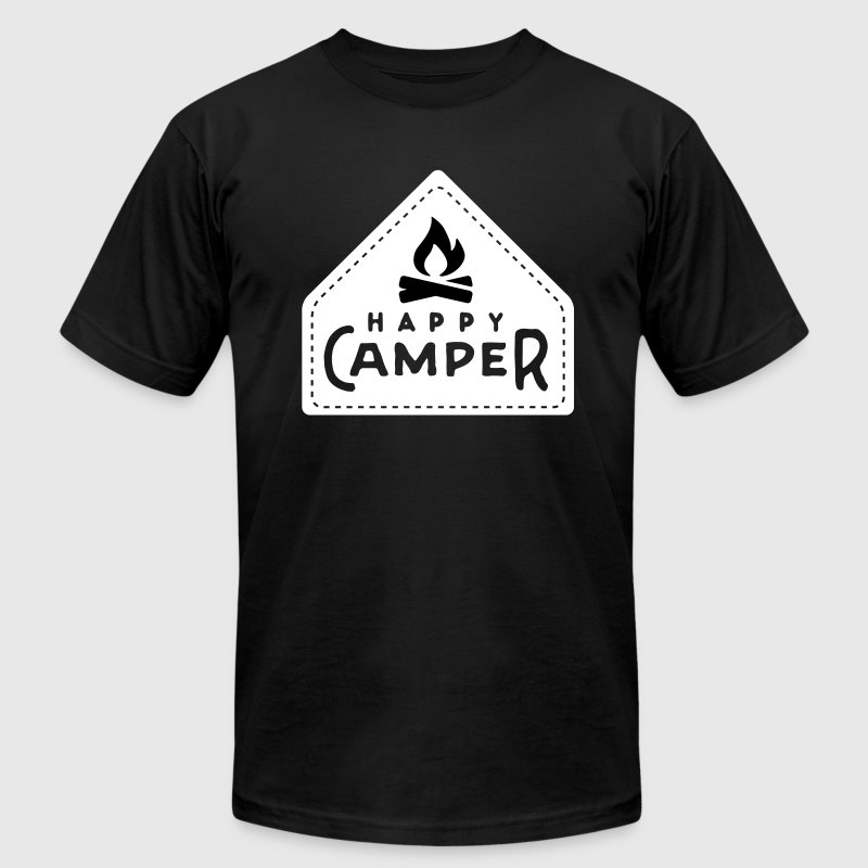 Camping: happy camper - Men's Fine Jersey T-Shirt