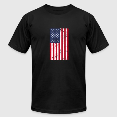 4th Of July American Flag - Men's Fine Jersey T-Shirt