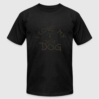 Deaf Dogs I loveI love my deaf Dog ASL Sign language - Men's Fine Jersey T-Shirt
