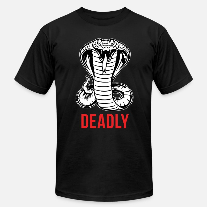Cobra T-Shirts - Cobra - Deadly - Men's Jersey T-Shirt black