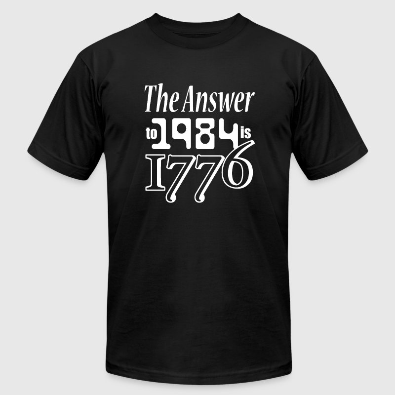 The Answer to 1984 is 1776 - Men's Fine Jersey T-Shirt