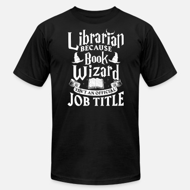 Wizard Library Librarian Books Book Wizard Librarians - Men's Jersey T-Shirt