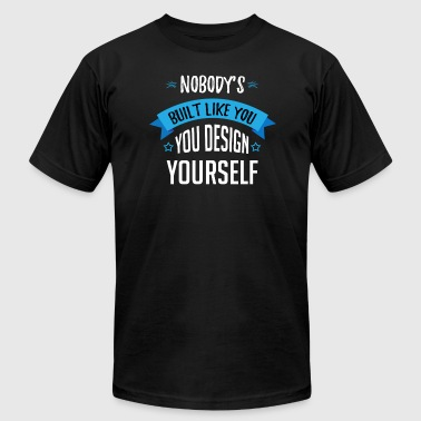 Fitness Designs Fitness Exercise Design Yourself - Men's Fine Jersey T-Shirt