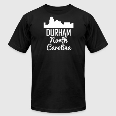 Durham North Carolina Skyline - Men's Fine Jersey T-Shirt