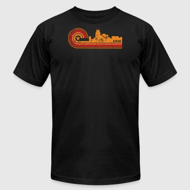 Retro Style Durham North Carolina Skyline - Men's Fine Jersey T-Shirt