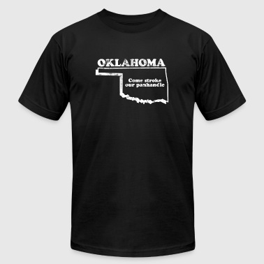 City Slogan OKLAHOMA STATE SLOGAN - Men's Fine Jersey T-Shirt