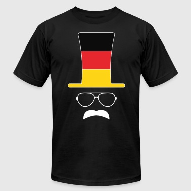 Flags Hipster German Flag Football hipster fan - Men's Fine Jersey T-Shirt