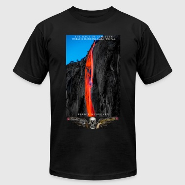 The Rage of Achilles Yosemite Falls Skull'n'Wings - Men's Fine Jersey T-Shirt