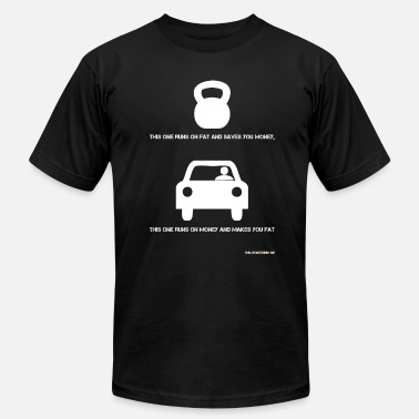 Runs On Fat this one runs on fat and saves you money - Men's  Jersey T-Shirt