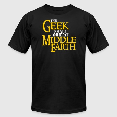 Earth Hour Geek Shall Inherit Middle Earth - Men's Fine Jersey T-Shirt