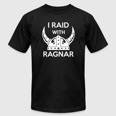 Viking - I raid with ragnar - Men's Fine Jersey T-Shirt