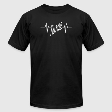 NURSE - nurse heart beat - Men's Fine Jersey T-Shirt