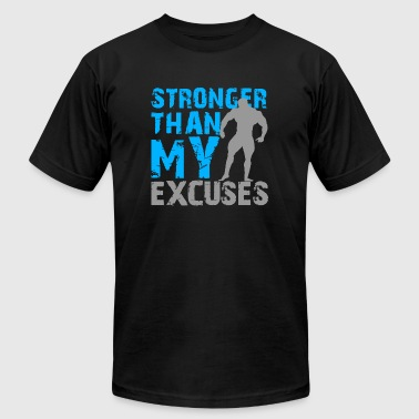 Bodybuilding - Stronger than my excuses - Men's Fine Jersey T-Shirt