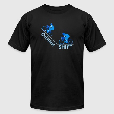 Pussy Cycle Cycling - Ohhhhh Shift Cycling - Men's Fine Jersey T-Shirt