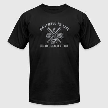 Baseball - Baseball Is Life The Rest Is Just Det - Men's Fine Jersey T-Shirt