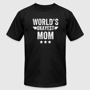 Mom - World's okayest mom - Men's Fine Jersey T-Shirt