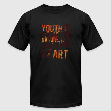 Homeless Work Youth is the gift of nature - Age is a work of a - Men's Fine Jersey T-Shirt