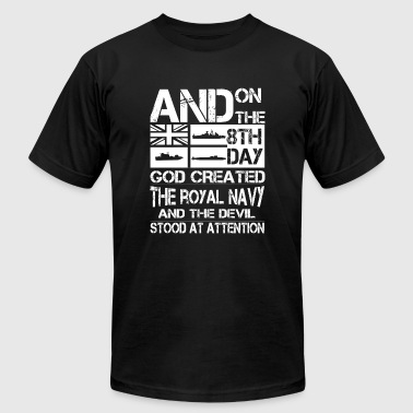 Navy - and on the 8th day god created the royal - Men's Fine Jersey T-Shirt