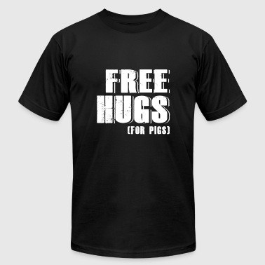 Pig - free hugs for pigs - pig - Men's Fine Jersey T-Shirt