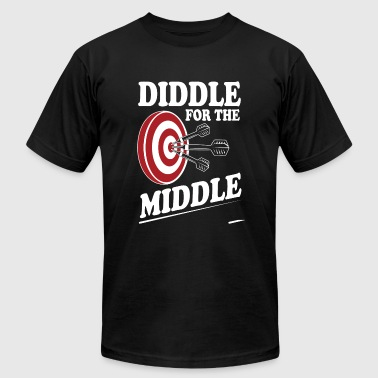 Dart - Diddle for the middle - Men's Fine Jersey T-Shirt