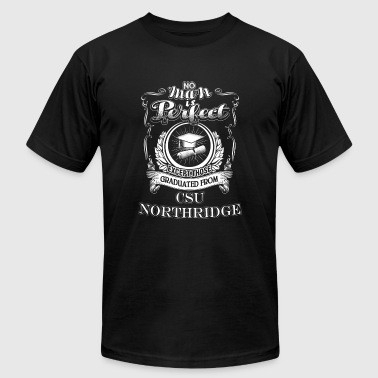 Graduate Evolution Graduated from CSU Northridge - No man is perfec - Men's Fine Jersey T-Shirt