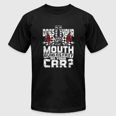 Mustang Does your mouth run as fast as your car - Men's Fine Jersey T-Shirt