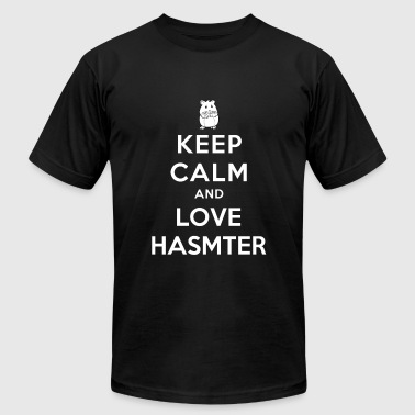 Hamster - Keep calm and love hamster - Men's Fine Jersey T-Shirt