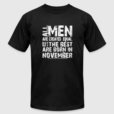 All November all man are equal november - gift - Men's Fine Jersey T-Shirt