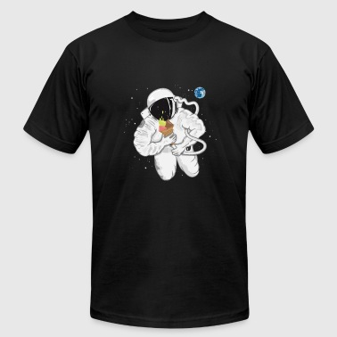 Astronaut with ice cream cone  - Men's Fine Jersey T-Shirt